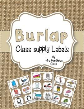 SUPPLY LABELS  Burlap
