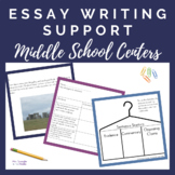Essay SUPPORT Practice Centers/Stations for Middle School