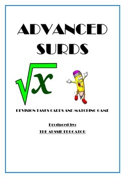 SURD rationalisation task cards and memory game (Extension