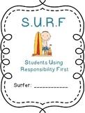 Student Binder Freebie (Surf themed)