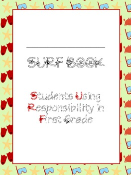 SURF Book Covers (Students Using Responsibility in First Grade)