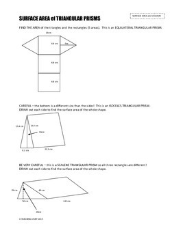 SURFACE AREA and VOLUME of PRISMS and CYLINDERS UNIT ...