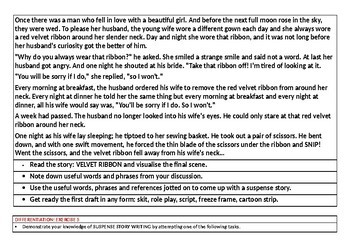 SUSPENSE STORY WRITING - 10 WORKSHEETS AND TASK CARDS