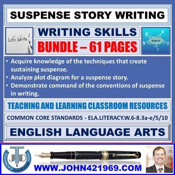 SUSPENSE STORY WRITING - CLASSROOM RESOURCES - BUNDLE