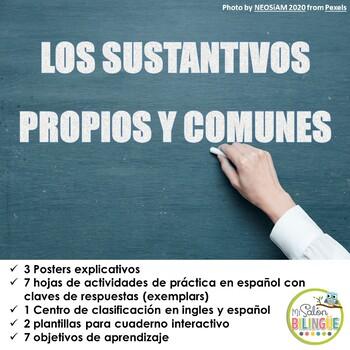 SUSTANTIVOS PROPIOS Y COMUNES EN ESPANOL