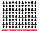 SVG Avatar, Head silhouette digital clipart