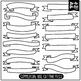SVG Banners Set / Personal & Commercial Use {Zip-A-Dee-Doo-Dah Designs}