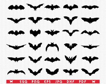Halloween Image Bat Clip Art Bat Wings Clipart Bat Wings Svg File Bat Silhouette Svg Bat Cut Files Bat Wings Digital Clip Art