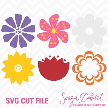 SVG Cuts Flowers Classroom Decor Silhouette Cricut Cut Files