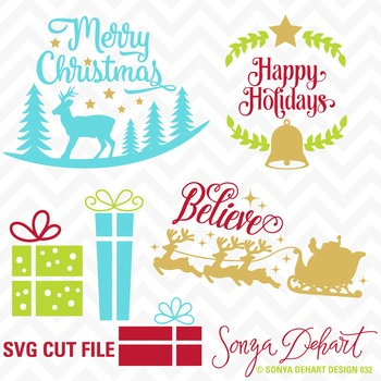 SVG Cuts and Christmas Clip Art Silhouette Cricut Cut Files