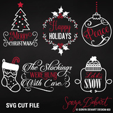 SVG Cuts and Christmas Holidays Clip Art Silhouette Cricut Cut Files