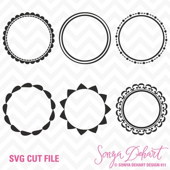 SVG Cuts and Clip Art Circle Frames Classroom Decor Silhouette Cricut Cut Files
