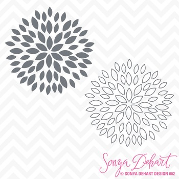 SVG Cuts and Clip Art Flower Blooms Classroom Decor Silhouette Cricut Cut Files