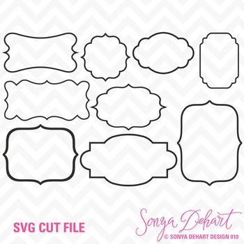 SVG Cuts and Clip Art Frames Classroom Decor Silhouette Cricut Cut Files
