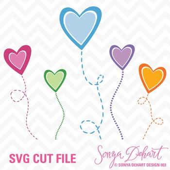 SVG Cuts and Clip Art Hearts Classroom Decor Silhouette Cricut Cut Files