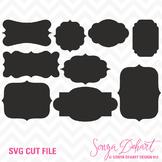 SVG Cuts and Clip Art Labels Classroom Decor Silhouette Cricut Cut Files