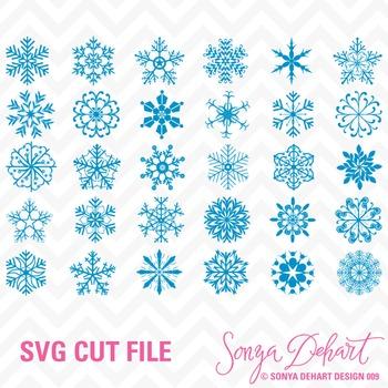 SVG Cuts and Clip Art Snowflakes Classroom Decor Silhouette Cricut Cut Files