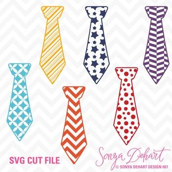 SVG Cuts and Clip Art Ties Classroom Decor Silhouette Cricut Cut Files