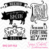 SVG Cuts and Kitchen Sayings Clip Art Silhouette Cricut Cut Files