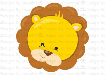 SVG, DXF, Pdf, Studio3 Cut file CF3 Animal Faces Lion