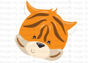 SVG, DXF, Pdf, Studio3 Cut file CF6 Animal Faces Tiger