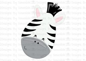 SVG, DXF, Pdf, Studio3 Cut file CF4 Animal Faces Zebra