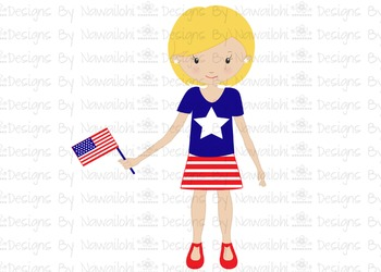 SVG, DXF, Pdf, Studio3 Cut file CF15 Independence Day Girl