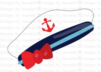 SVG, DXF, Pdf, Studio3 Cut file CF21 Nautical Hat Girl