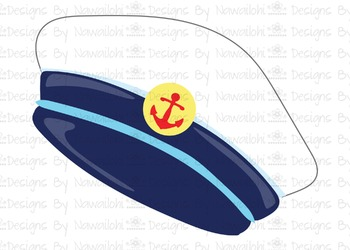 SVG, DXF,Pdf, Studio3 Cut file CF22 Nautical Sailor Hat