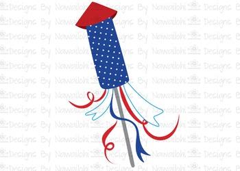 SVG, DXF, Pdf, Studio3 Cut file CF34 Independence Day 4th of July Rocket