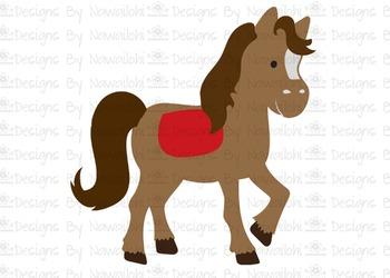 SVG, DXF, Pdf, Studio3 Cut file CF36 Wild West Horse