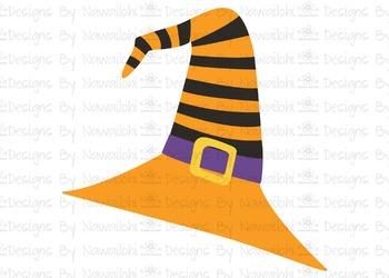 SVG, DXF, Pdf, Studio3 Cut file CF45 Halloween Hat