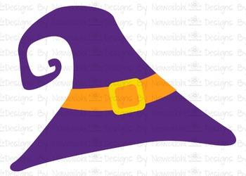 SVG, DXF, Pdf, Studio3 Cut file CF46 Halloween Hat