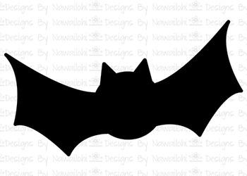 SVG, DXF, Pdf, Studio3 Cut file CF48 Halloween Bat