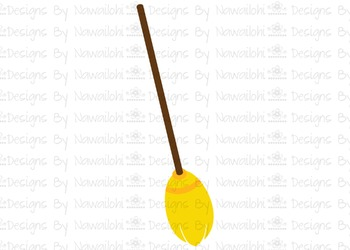 SVG, DXF, Pdf, Studio3 Cut file CF52 Halloween Broom