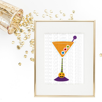 SVG, DXF, Pdf, Studio3 Cut file CF60 Halloween Cocktail