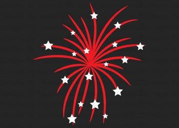 SVG, DXF, Pdf, Studio3 Cut file CF9 Independence Day Fireworks