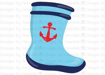 SVG, DXF, Pdf, Studio3 Cut file CF9 Nautical Boot