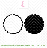 SVG DXF PNG - Cut File - Monogram Shape - Personal Use Only