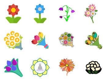 SVG Flowers - Tulips, Daisies, More - Beautiful Flower Vector Art Icons