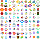 SVG Flowers - Tulips, Daisies, More - Beautiful Flower Vec