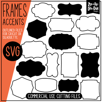 SVG Frames Set / Personal & Commercial Use {Zip-A-Dee-Doo-Dah Designs}