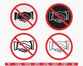 SVG No Handshake, Prohibiting Sign, Digital clipart, Files eps, jpg, Design vect