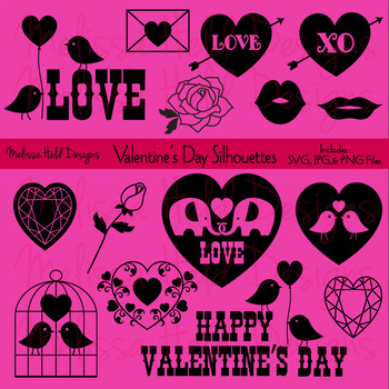SVG Valentine's Day Silhouettes