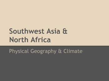 SW Asia & North Africa Physical Geography Notes
