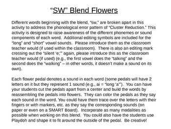 SW Blend Flowers to Address Cluster Reduction