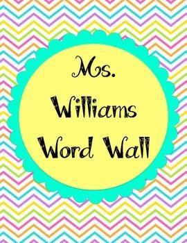 SW Custom Order Word Wall