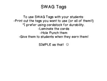 SWAG! Brag Tags for Careers