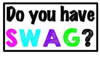 SWAG Posters (Bright Colors)