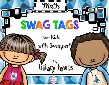 SWAG TAGS [Brag Tags] Math Pack